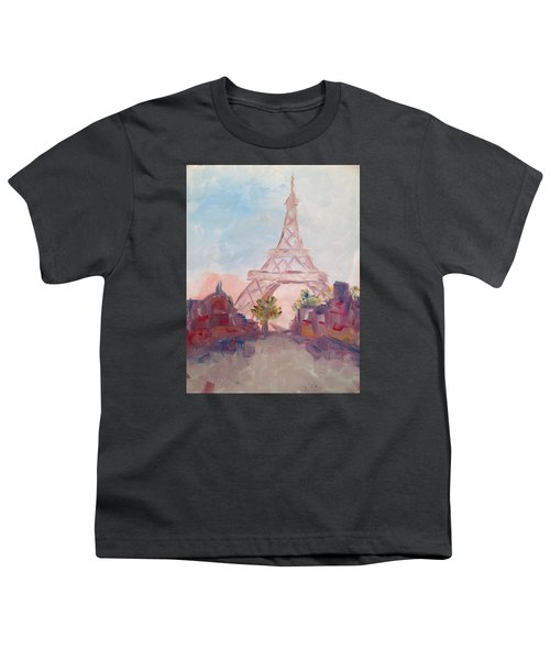 Paris In Pastel Youth T-Shirt
