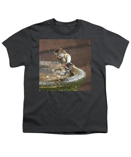Pass The Towel Please: A House Sparrow Youth T-Shirt by John Edwards
