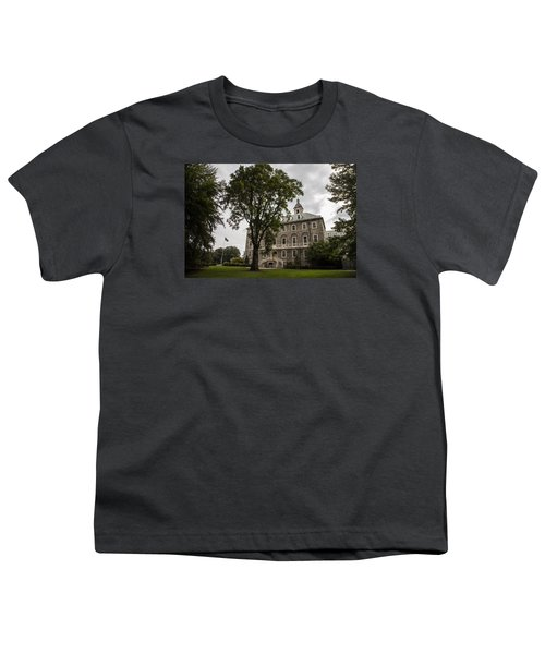 Penn State Old Main And Tree Youth T-Shirt by John McGraw