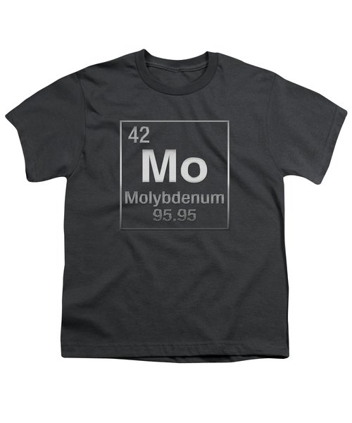 Periodic Table Of Elements - Molybdenum - Mo - On Molybdenum Youth T-Shirt