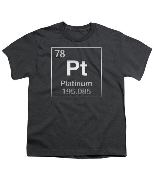 Periodic Table Of Elements - Platinum - Pt - Platinum On Platinum Youth T-Shirt