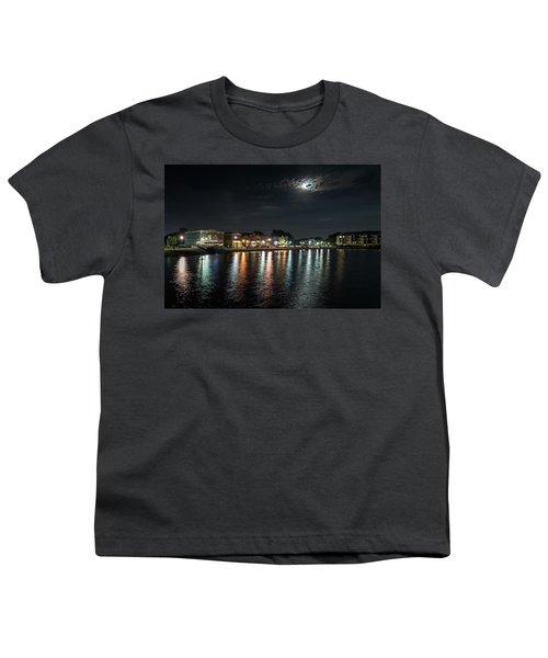 Pewaukee At Night Youth T-Shirt by Randy Scherkenbach