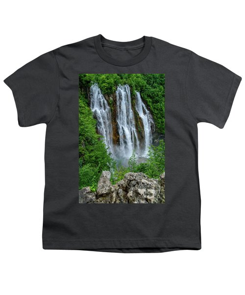 Plitvice Lakes Waterfall - A Balkan Wonder In Croatia Youth T-Shirt