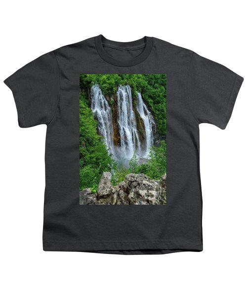 Plitvice Lakes Waterfall - A Balkan Wonder In Croatia Youth T-Shirt