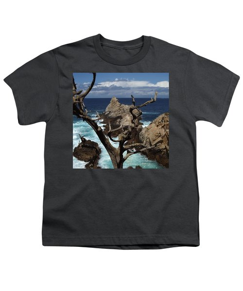 Point Lobos Rocks And Branches Youth T-Shirt