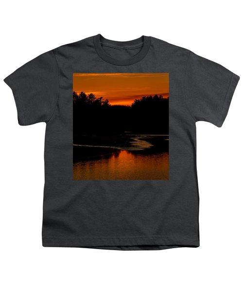 Presumpscot Sunset No.101 Youth T-Shirt by Mark Myhaver
