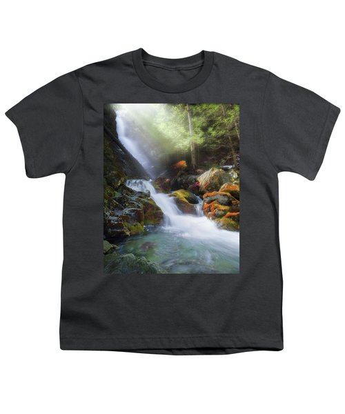 Youth T-Shirt featuring the photograph Race Brook Falls 2017 by Bill Wakeley