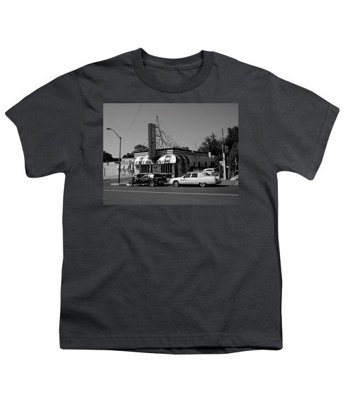 Youth T-Shirt featuring the photograph Raifords Disco Memphis A Bw by Mark Czerniec