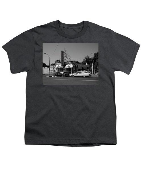 Youth T-Shirt featuring the photograph Raifords Disco Memphis A Bw by Mark Czerniec