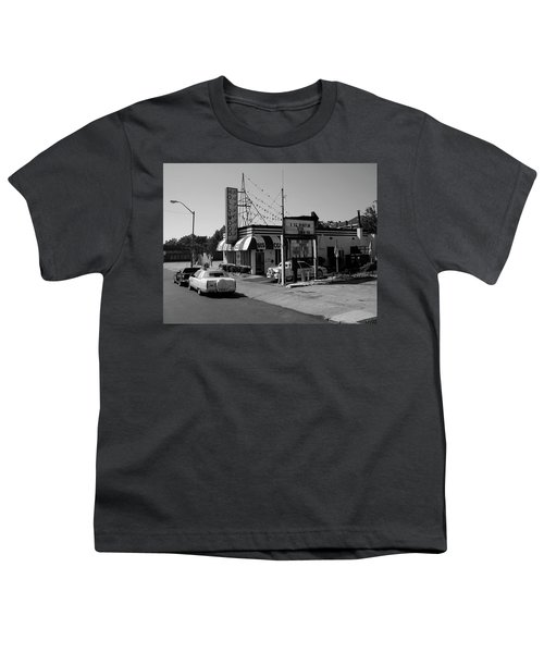 Youth T-Shirt featuring the photograph Raifords Disco Memphis B Bw by Mark Czerniec