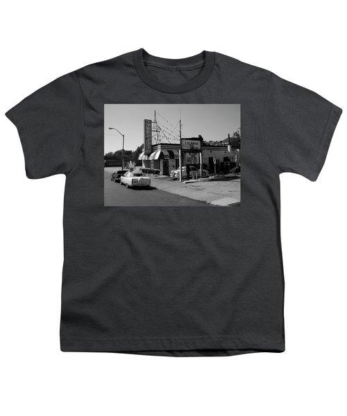 Youth T-Shirt featuring the photograph Raifords Disco Memphis B Bw by Mark Czerniec
