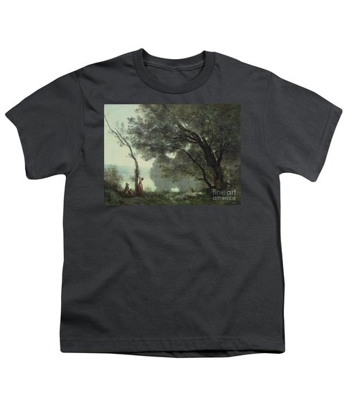 Recollections Of Mortefontaine Youth T-Shirt by Jean Baptiste Corot