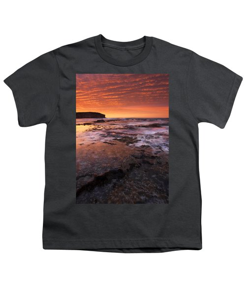 Red Tides Youth T-Shirt by Mike  Dawson