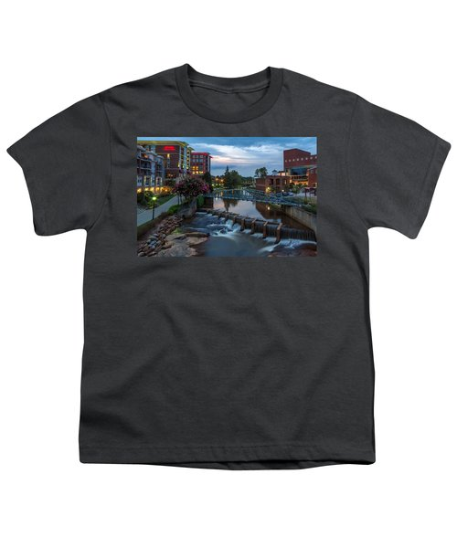 Reedy River View At Sunset Youth T-Shirt