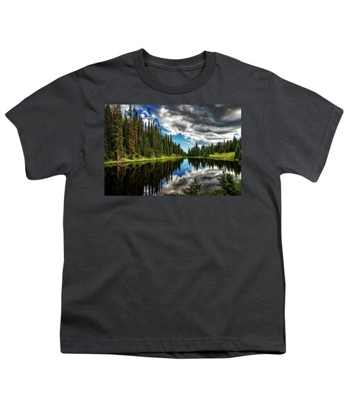 Rocky Mountain Lake Irene Youth T-Shirt
