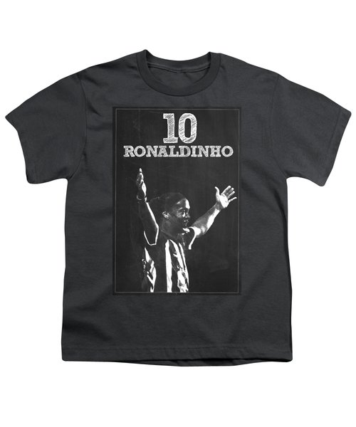 Ronaldinho Youth T-Shirt by Semih Yurdabak