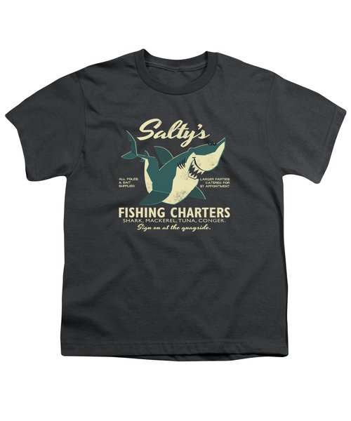Salty's Fishing Charters Youth T-Shirt