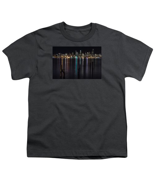 Seattle At Night Youth T-Shirt