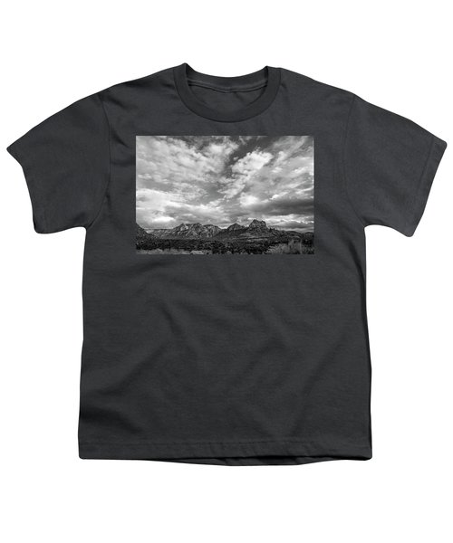 Sedona Red Rock Country Bnw Arizona Landscape 0986 Youth T-Shirt by David Haskett