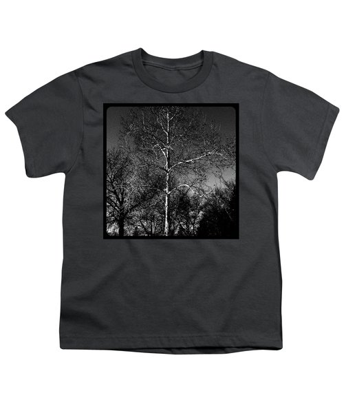 Silver Tree - Monochrome Youth T-Shirt