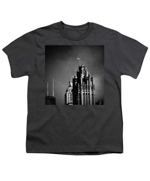 Skyscrapers Then And Now Youth T-Shirt