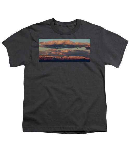 Snow Covered Red Rock Panorama Youth T-Shirt