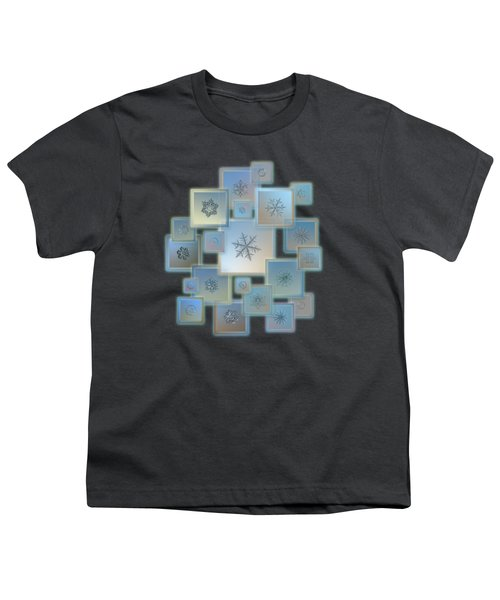 Snowflake Collage - Bright Crystals 2012-2014 Youth T-Shirt by Alexey Kljatov