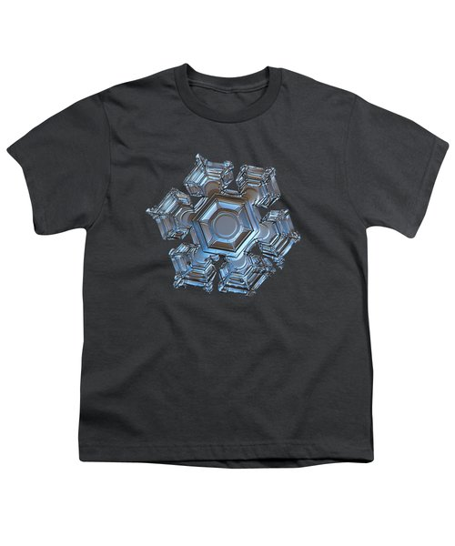 Snowflake Photo - Cold Metal Youth T-Shirt by Alexey Kljatov