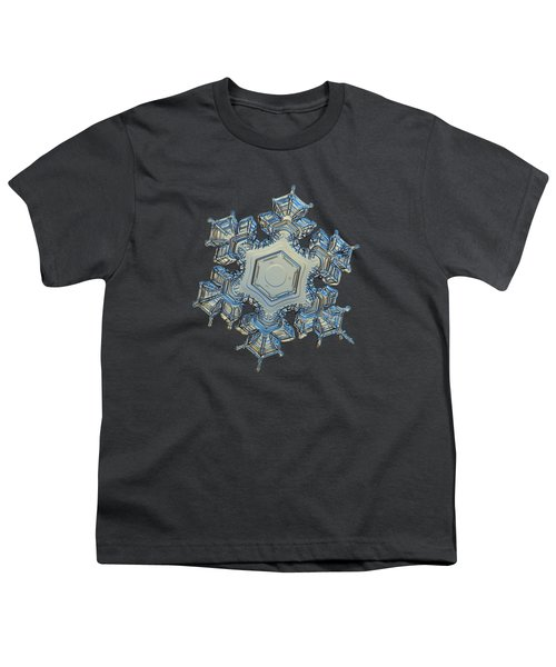 Youth T-Shirt featuring the photograph Snowflake Photo - Iron Crown by Alexey Kljatov
