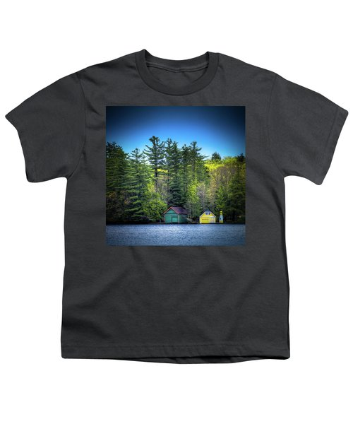 Spring Day At Old Forge Pond Youth T-Shirt by David Patterson
