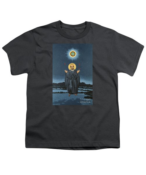 St. Ignatius In Prayer Beneath The Stars 137 Youth T-Shirt