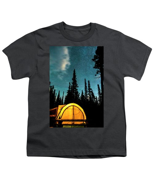 Youth T-Shirt featuring the photograph Star Camping by James BO Insogna