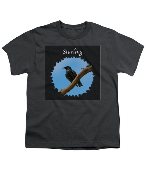 Starling   Youth T-Shirt by Jan M Holden