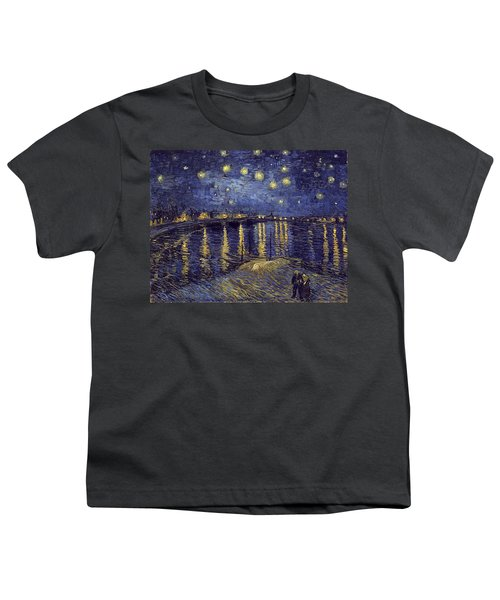 Youth T-Shirt featuring the painting Starry Night Over The Rhone by Van Gogh