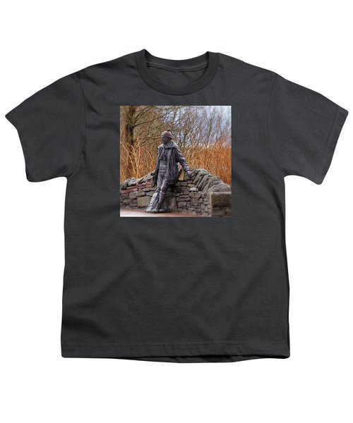 Statue Of Tom Weir Youth T-Shirt by Jeremy Lavender Photography