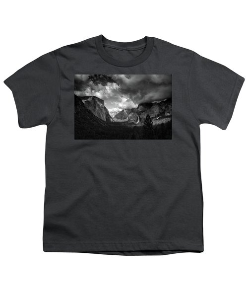 Storm Arrives In The Yosemite Valley Youth T-Shirt