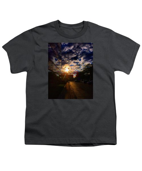 Sunlit Cloud Reflection Youth T-Shirt by Nick Heap