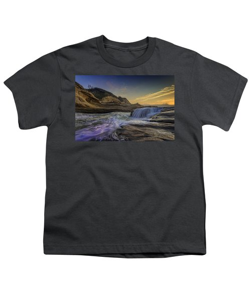 Sunset At Cape Kiwanda Youth T-Shirt