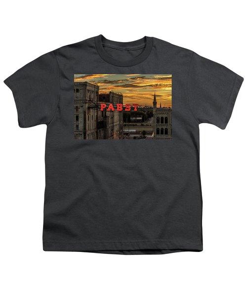 Sunset At The Brewery Youth T-Shirt by Randy Scherkenbach