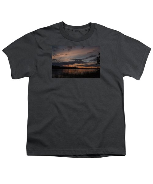 Sunset From Afternoon Beach Youth T-Shirt by Gary Eason