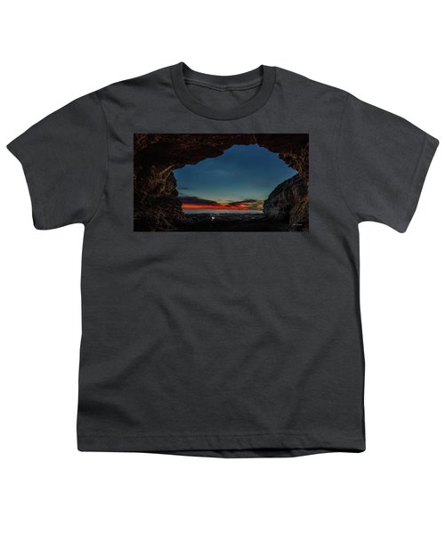 Sunset From Brady's Cave Youth T-Shirt