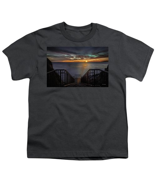 Sunset From Sandpiper Staircase Youth T-Shirt
