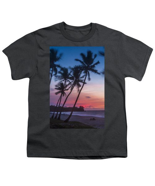 Sunset In Paradise Youth T-Shirt by Alex Lapidus