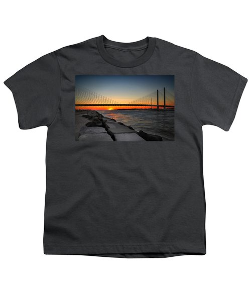 Sunset Under The Indian River Inlet Bridge Youth T-Shirt