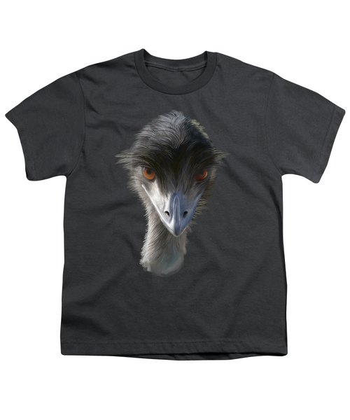 Suspicious Emu Stare Youth T-Shirt
