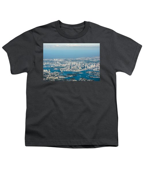 Sydney From The Air Youth T-Shirt by Parker Cunningham