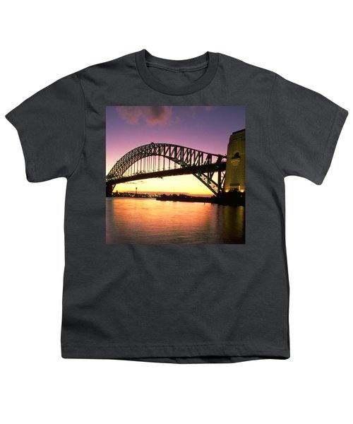 Sydney Harbour Bridge Youth T-Shirt by Travel Pics