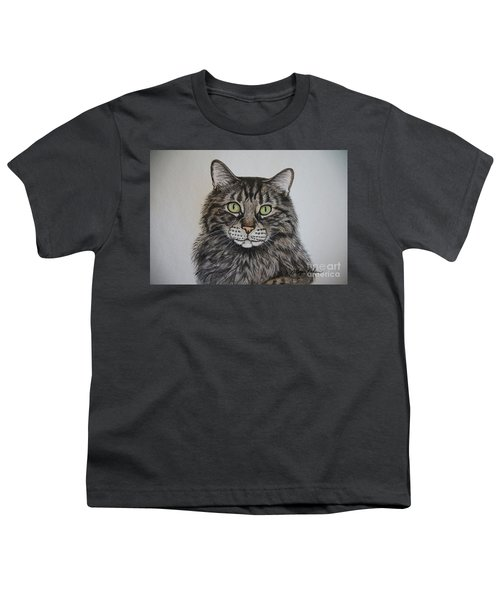 Tabby-lil' Bit Youth T-Shirt by Megan Cohen
