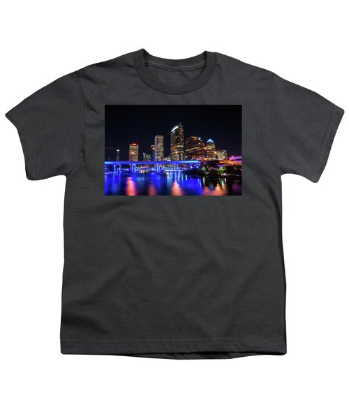 Tampa Skyline Youth T-Shirt by Steven M