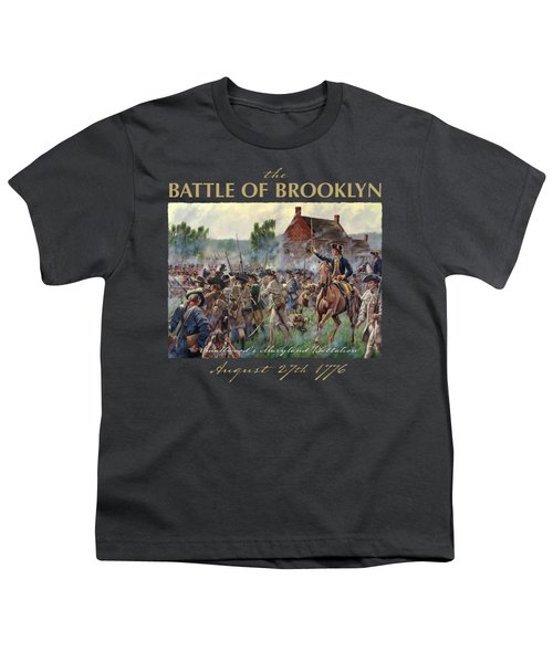 The Battle Of Brooklyn Youth T-Shirt by Mark Maritato